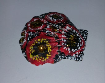 Hand painted seashell, Authentic seashell, Decorative item