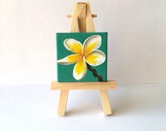 Mini Frangipani Painting