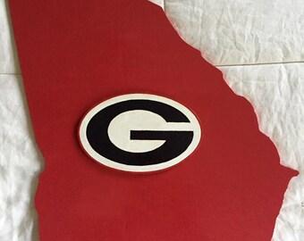 Georgia Bulldogs state plaque