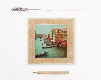 Venice Grand Canal, Rialto bridge, Gondolas, Venice landscape, Italy art print, Travel, Venice pictures, Venice bridge, Housewarming gift