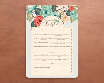 Wedding Mad Libs - Letter to the Couple