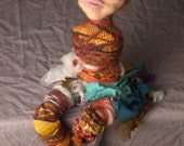 Art Doll Ooak -  Protection and Healing - Needle Felted