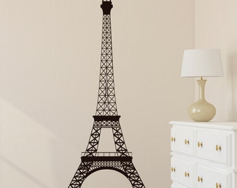 Eiffel Tower Wall Decal Paris Wall Decal Wall Decor La Tour Eiffel Vinyl Art Wall Decal