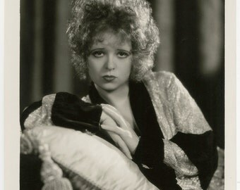 Clara Bow Old Original 1930 Classic Hollywood Art Deco Flapper Portrait Photograph Eugene Robert Richee Her Wedding Night NOT A Reprint!