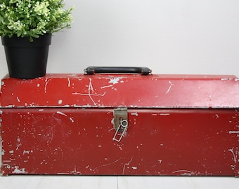 Vintage Tool Box/Red to Chest