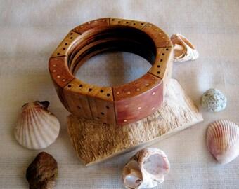 """Handmade Wooden Bracelet """"Domino"""""""