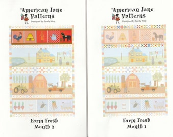 Farm Fresh BOM - Block of the Month - Complete Set - by American Jane Patterns