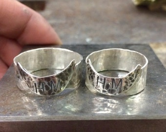 Customized half-moon rings