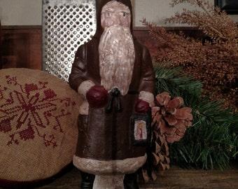 Primitive Santa Belsnickle with Lantern