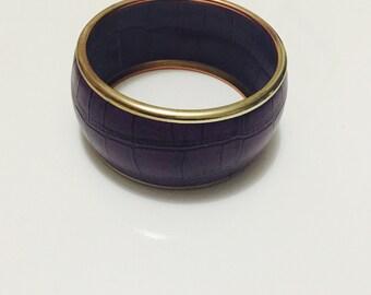Purple snakeskin effect fashion bangle