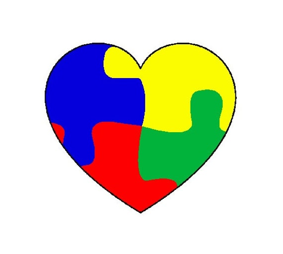Autism Awareness Puzzle Piece Heart Until All By