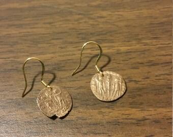 ancient Roman coin earrings