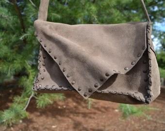 Leather (suede) handbag
