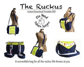 Diaper Bag Pattern, 'The Ruckus'- PDF Pattern