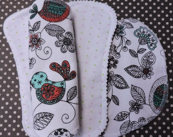 Starter Kit 5 pc, SALE, Ready to Ship, Reusable Panty Liners, 100% Cotton Flannel, 5 Styles, Winged and Wingless