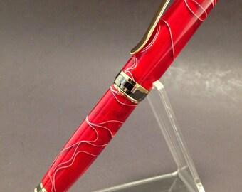 Red acrlic Cigar Ball Point Pen