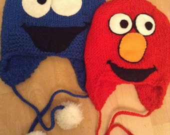elmo or cookie monster childs hat