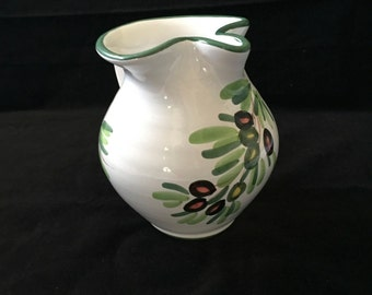 Vintage Italian Hand Painted Pitcher