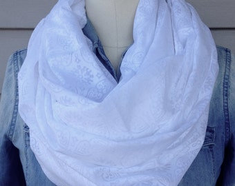 Cotton Burnout Infinity Scarf