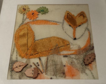Mixed Media collage - fox