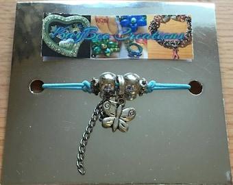 Blue Butterfly Wish Bracelet