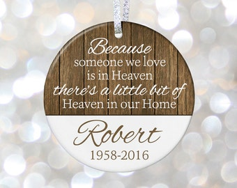 Memorial Christmas Ornament Christmas In Heaven Ornament Remembrance Gift Infant Loss Miscarriage Pregnancy Loss Gift In Loving Memory Gift