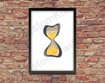 Printable Poster Hourglass