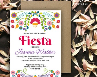 Fiesta Invitation | Birthday | Bridal | Baby Shower | 5x7 | Editable PDF | Instant Download | Personalize at home with Adobe Reader