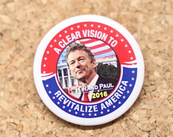 "2-1/4"" Rand Paul for President 2016 Election Pinback Button"