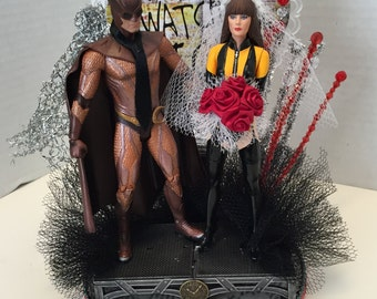 Hand crafted Watchmen Wedding Cake Topper