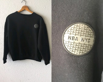 1990's NBA NYC Basketball New York Patched Vintage NBA Official Sweatshirt