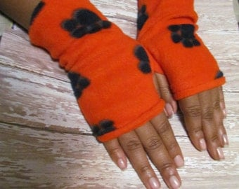 Bobcat fingerless gloves texting gloves