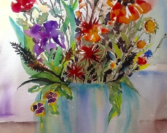 original watercolor painting matted 16x20