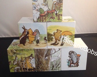 Classic winnie the Pooh illustrated by Ernest H.Shepard nursery blocks