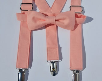 On Sale Color Match to Bellini Suspender and Bow Tie Set Free Shipping Offer Perfect for Weddings, Proms, Special Events