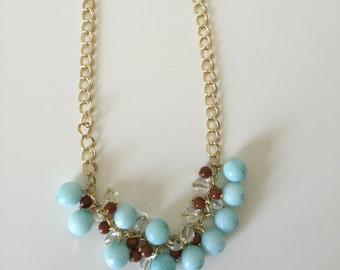 "Beautiful Necklace, One of a Kind Necklace, Trendy Necklace, Striking Necklace, Lady's Necklace, 18"" long.[free shipping]"