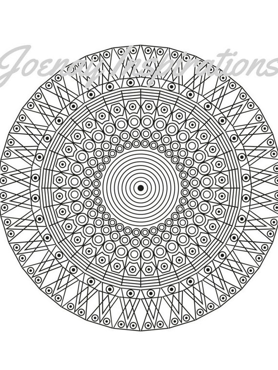 Adult Coloring Book, Printable Coloring Pages, Coloring Pages, Coloring Book for Adults, Instant Download Magnificent Mandalas 3 page 9