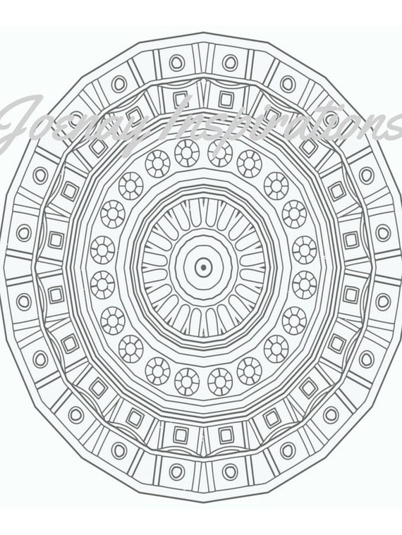 Adult Coloring Book, Printable Coloring Pages, Coloring Pages, Coloring Book for Adults, Instant Download Magnificent Mandalas 3 page 11