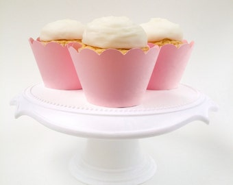 Set of 12 – Blush Pink Cupcake Wrappers – Standard Sized - Ready To Ship