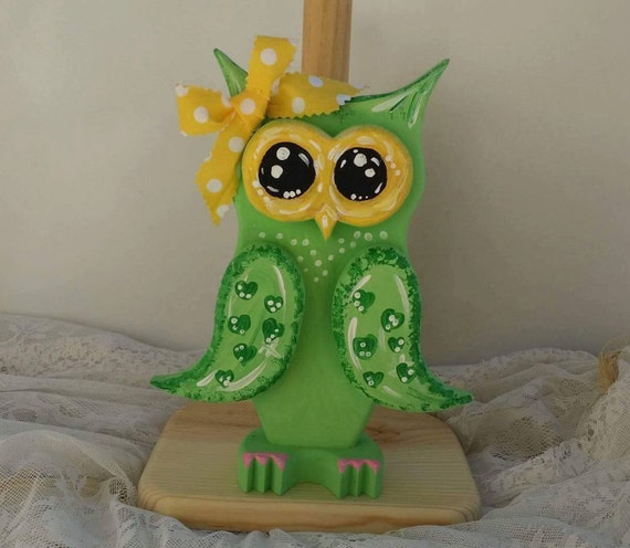Owl Decoration, Owl Paper Towel Holder, Owl Kitchen Decor, Miss Muffin the Owl, Owl Gifts, Owl Decorations, Custom Owl Gifts, Cute Owl