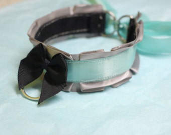 Grey and Baby Blue Choker/Collar