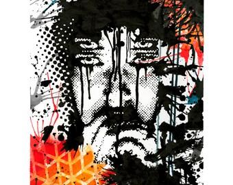 "Four Eyes 12""x16"" Print"