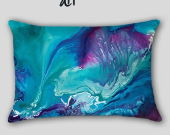 Designer Throw Pillow Teal Turquoise Blue By Artfromdenisedecor