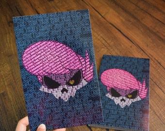 Mystery Skulls Type Art Print