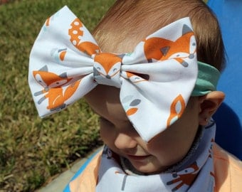 Fox Big Bow Headband