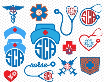 Medical Nurse Set Frames SVG DXF EPS hospital kit Monogram Cut Files for Cricut Design, Silhouette studio, Sure Cut Lot, Makes the Cut