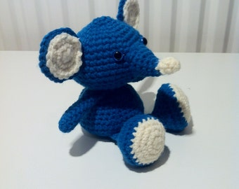 Mouse, Blue Mouse, Handmade, Soft Toy, Crochet Mouse, Amigurumi Mouse, Amigurumi Toy, Crochet