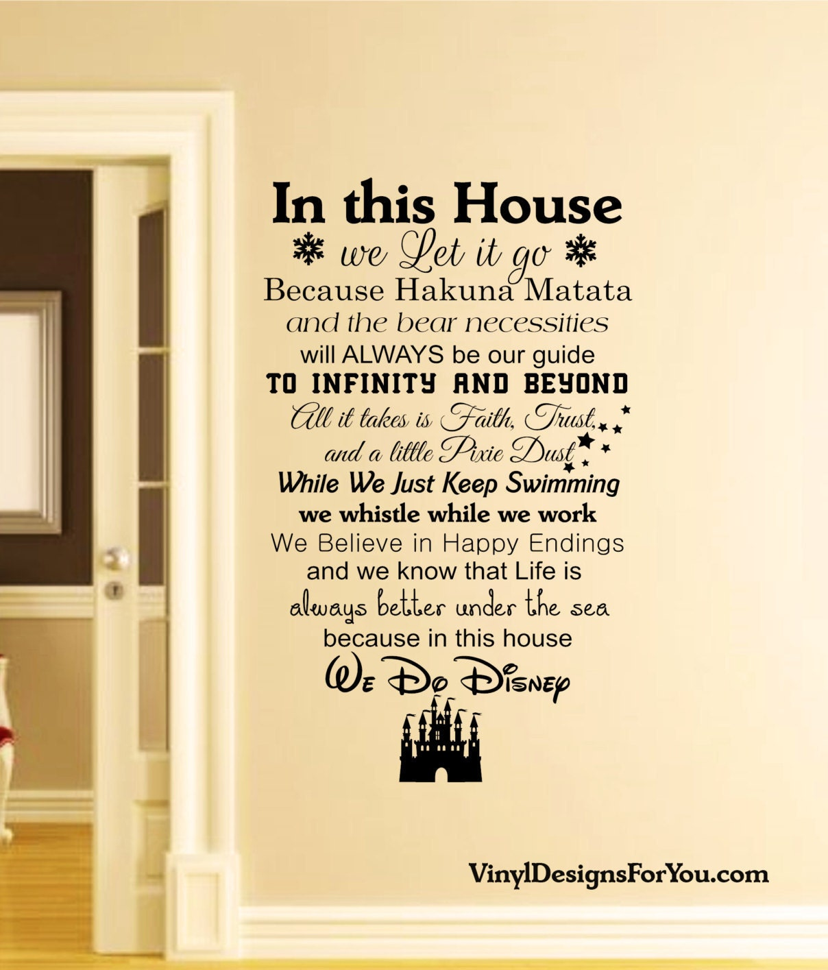 In this house we do disney wall decalswall decaldisney zoom amipublicfo Choice Image