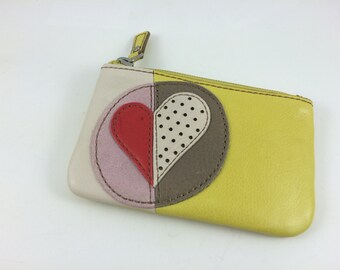 Never Used Fossil Citrus Heart Coin Purse