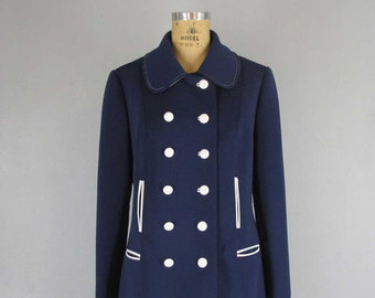 LILLI ANN mod jacket / pea coat style from the 1970s!
